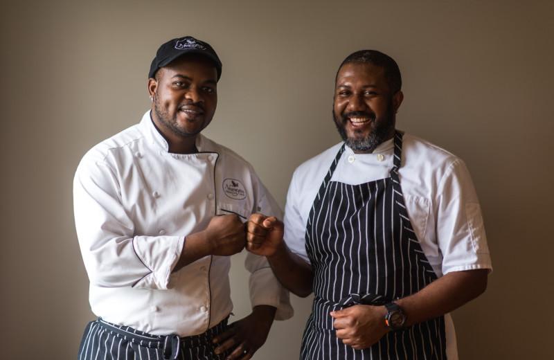 Chefs at Newagen Seaside Inn.