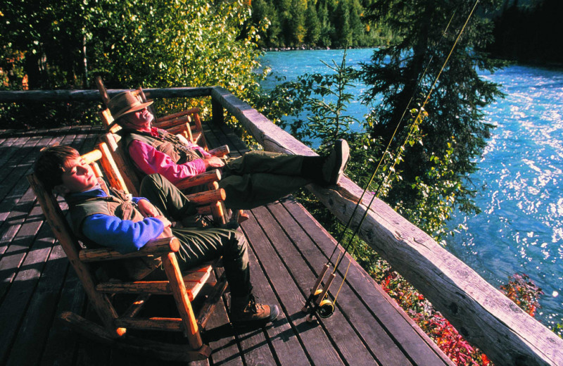 Relaxing at Kenai Riverside Lodge.