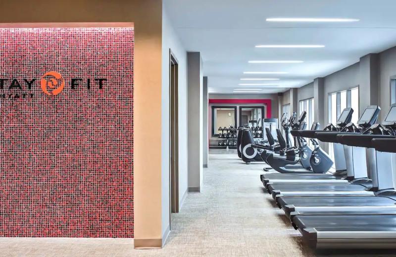 Fitness center at Hyatt Regency Greenwich.
