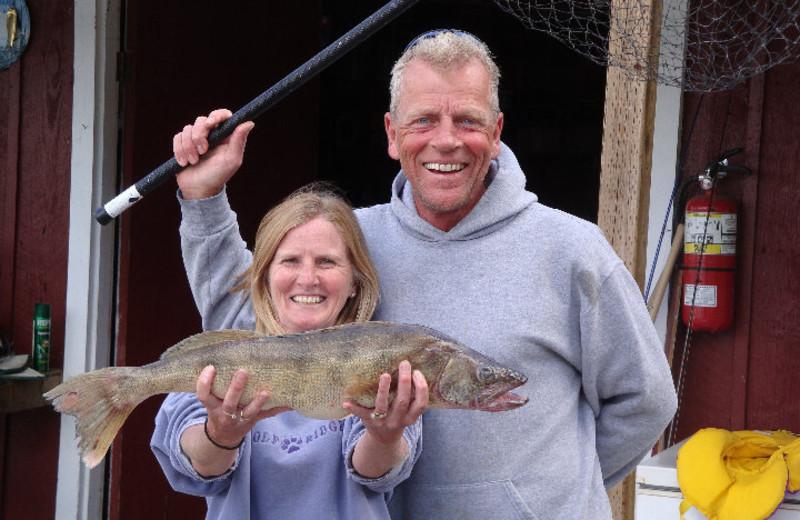 Fishing at Rex Tolton's Miles Bay Camp.