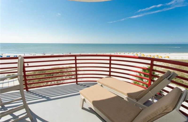 Rental balcony at Crimson Resort.