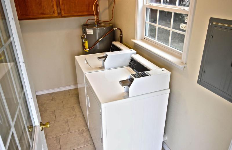 Laundry room at Peach Tree Inn & Suites.