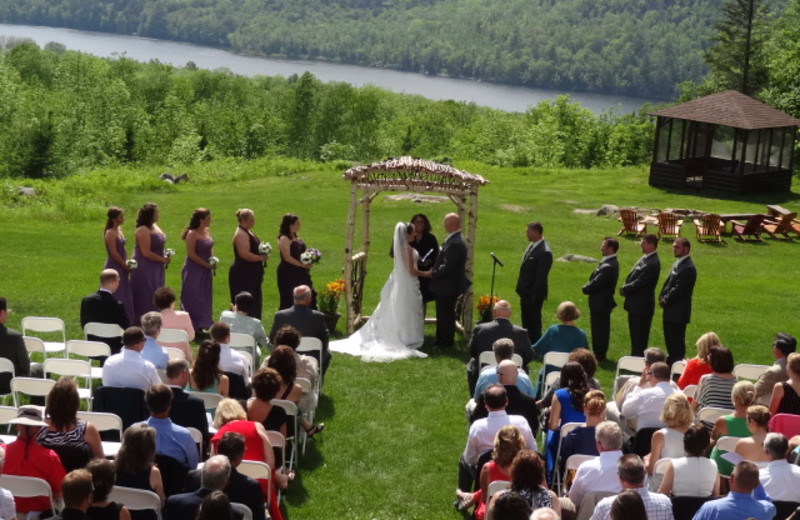 Wedding on the Lawn at Garnet Hill Lodge