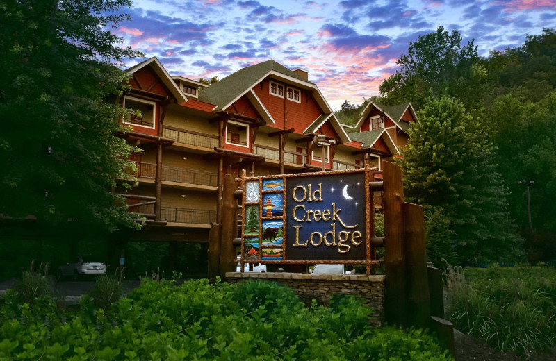 Exterior view of Old Creek Lodge.