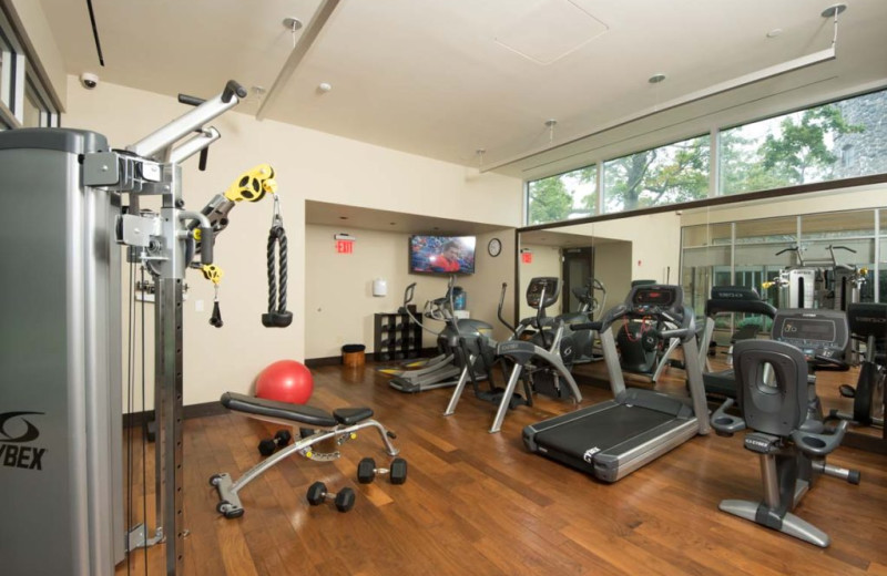 Fitness room at Castle Hotel & Spa.