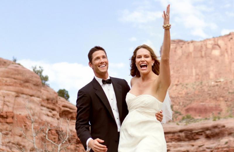 Bride And Groom at Gateway Canyons Resort
