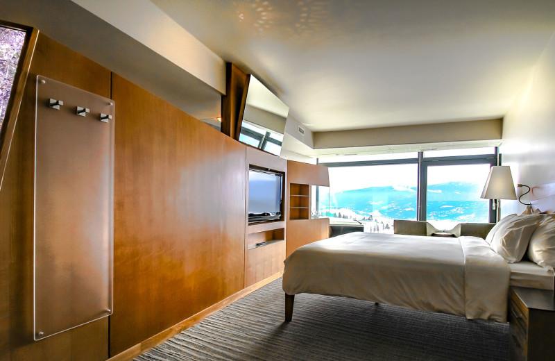 Guest room at Sparkling Hill Resort.