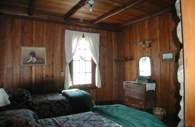 Lodge Bedroom at Rising Wolf Ranch.