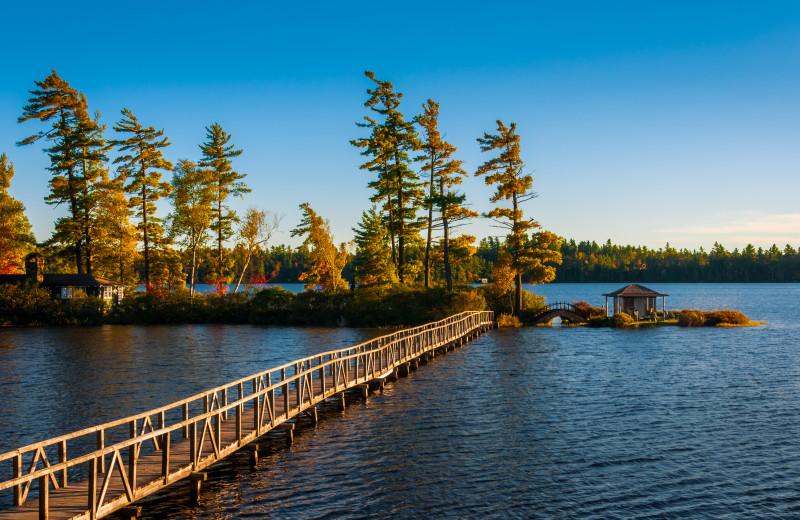 Dock at White Pine Camp.