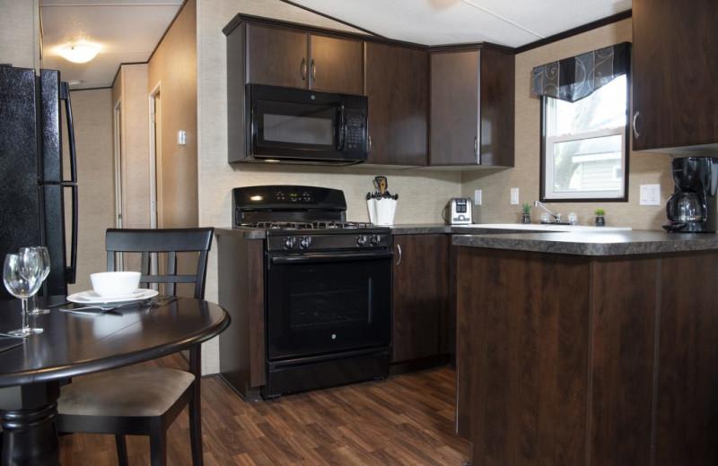 Cottage kitchen at Great Blue Resorts- Cherry Beach Resort.