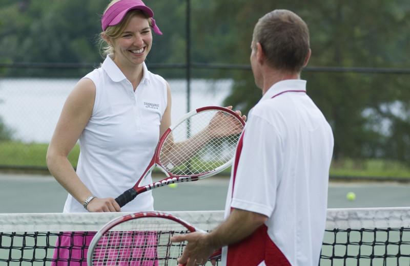 Tennis court at Deerstalker Resort.