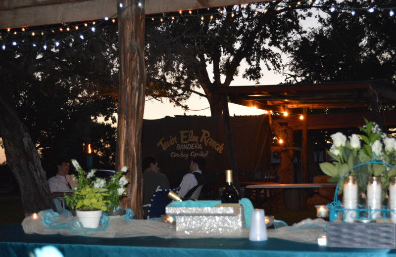 Wedding reception at Twin Elm Ranch.