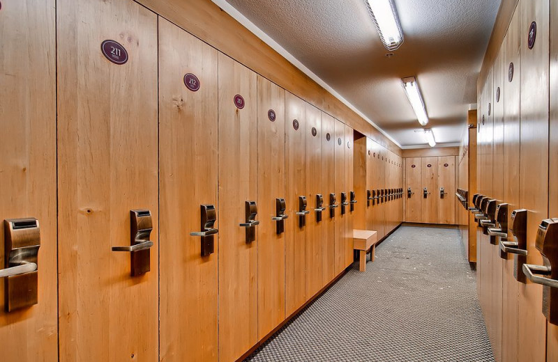 Locker room at Torian Plum Resort.