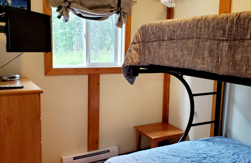 Cottage bedroom at Expanse Cottages.