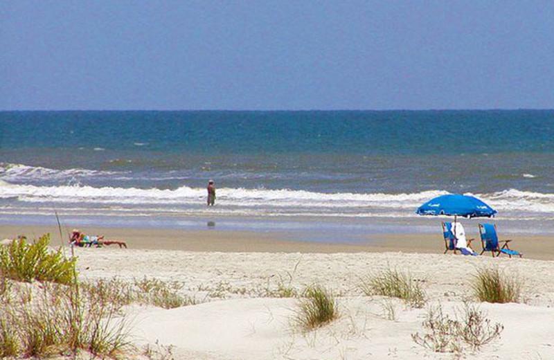 The beach at St. Augustine Ocean & Racquet Resort.