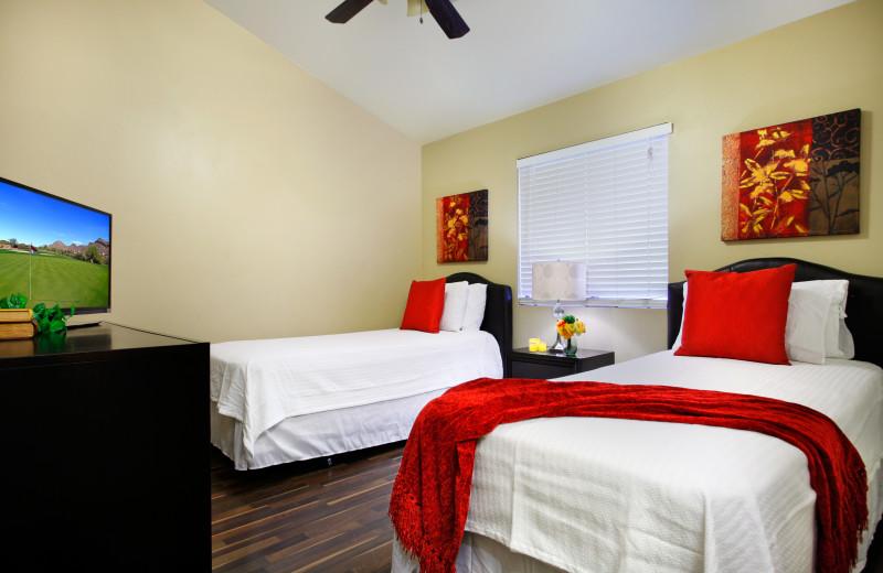 Rental bedroom at Arizona Vacation Rentals.