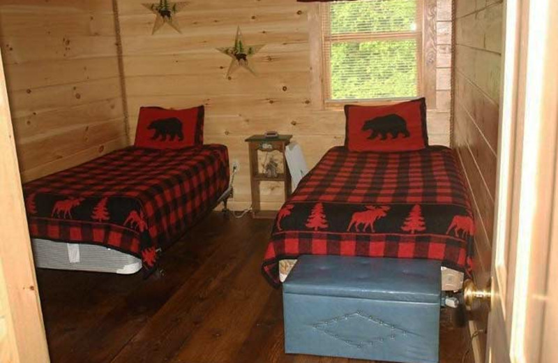 Cabin Bedroom at Sunrise Ridge Guide Service