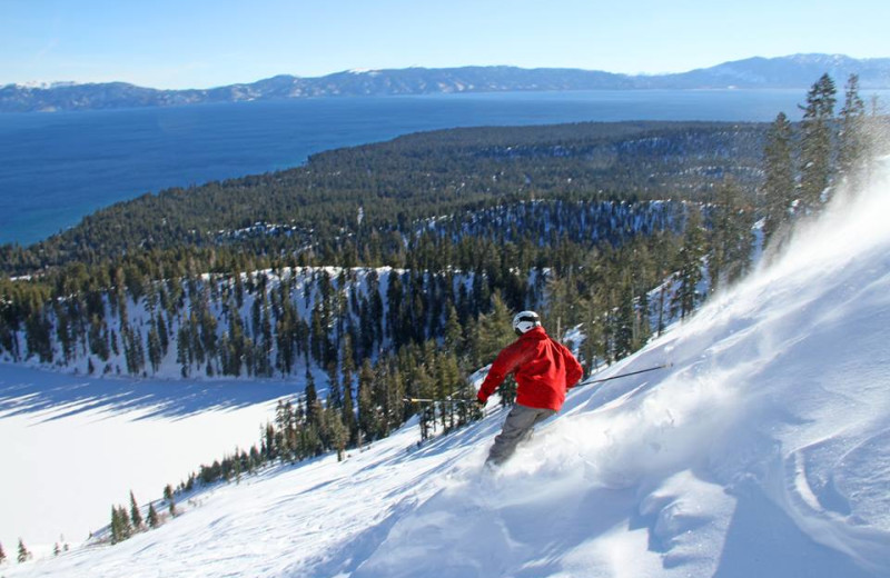 Skiing near Stay in Lake Tahoe.