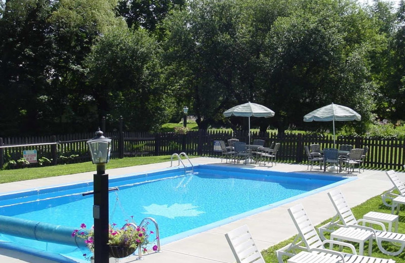 Outdoor pool at Maple Terrace Motel.