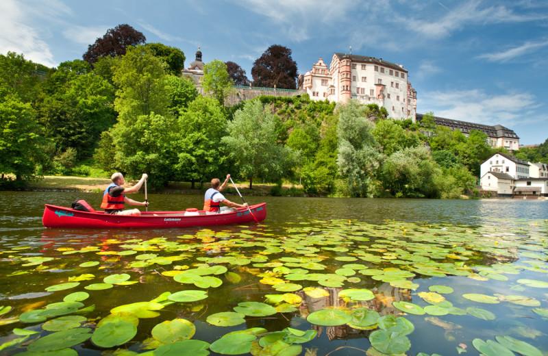 Canoeing at Schlosshotel Weilburg.