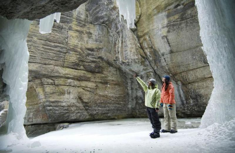 Maligne Canyon ice walk near Johnston Canyon Resort.