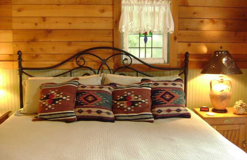 Guest room at Acres of Birds & Blooms Getaway.