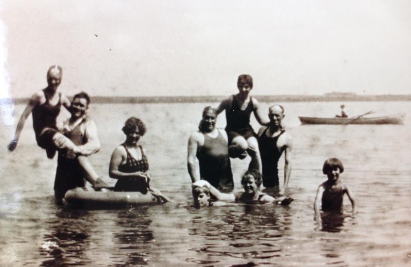 Historic photos at Cozy Cove Resort.