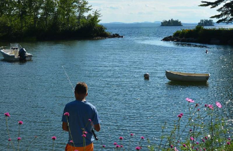Fishing at Migis Lodge.