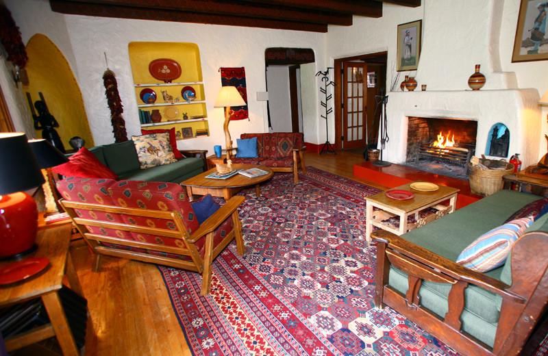 Living room at Tumbling River Ranch.