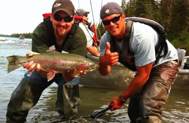 Fishing at Kenai River Drifters Lodge.