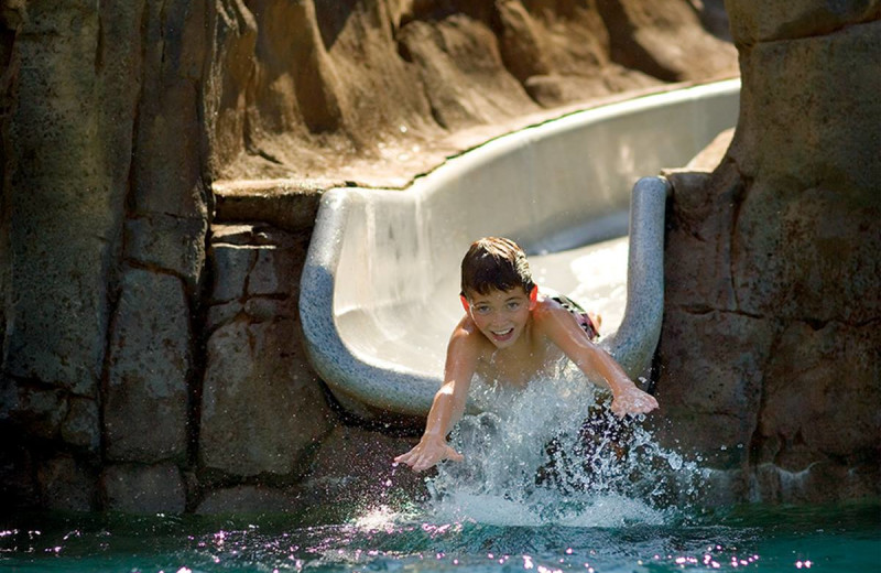 Water slide at Pronghorn Resort.