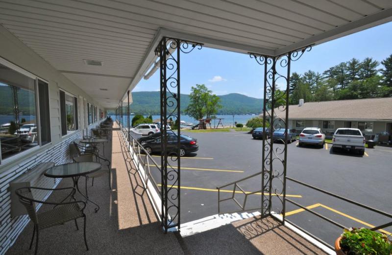 Porch view at Marine Village Resort.
