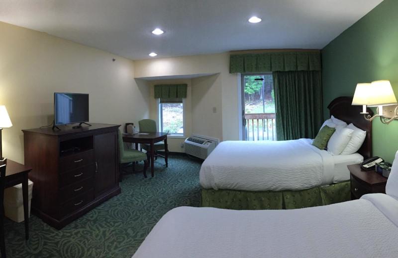 Hotel room at Massanutten Resort.