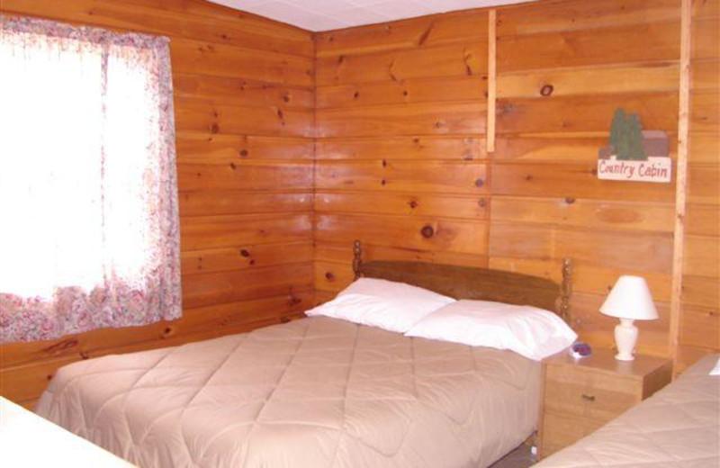 Guest room at Ten Mile Lake Resort.