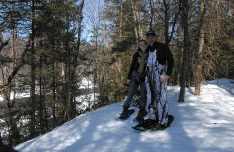 Snowshoeing at S & J Lodge.