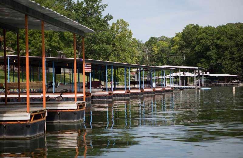 Docks at Bass Point Resort.