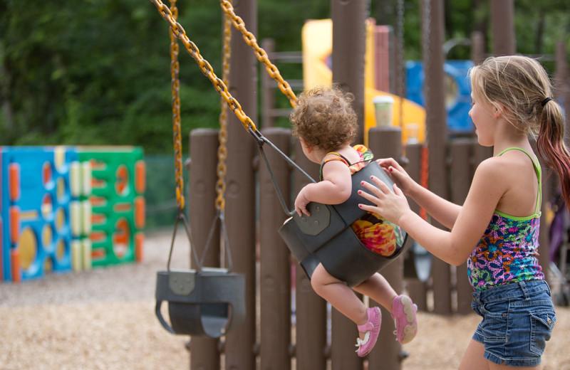 Playground at Woodloch Resort.