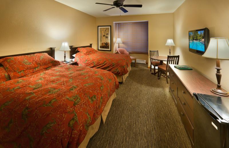 Double queen bedroom at Granlibakken Resort.