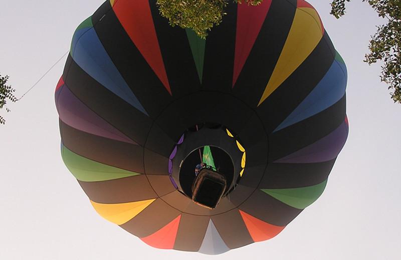 Hot air balloons at La Tourelle Resort & Spa.
