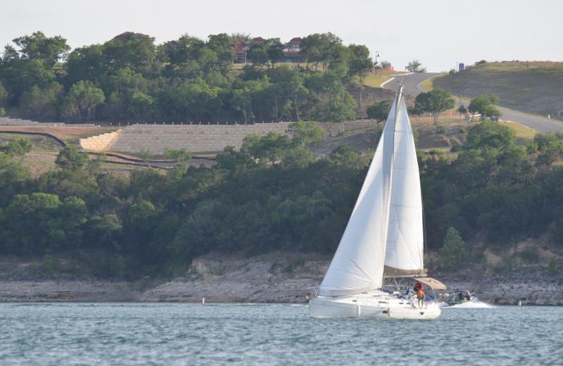 Sailing near Mountain Star Lodge.