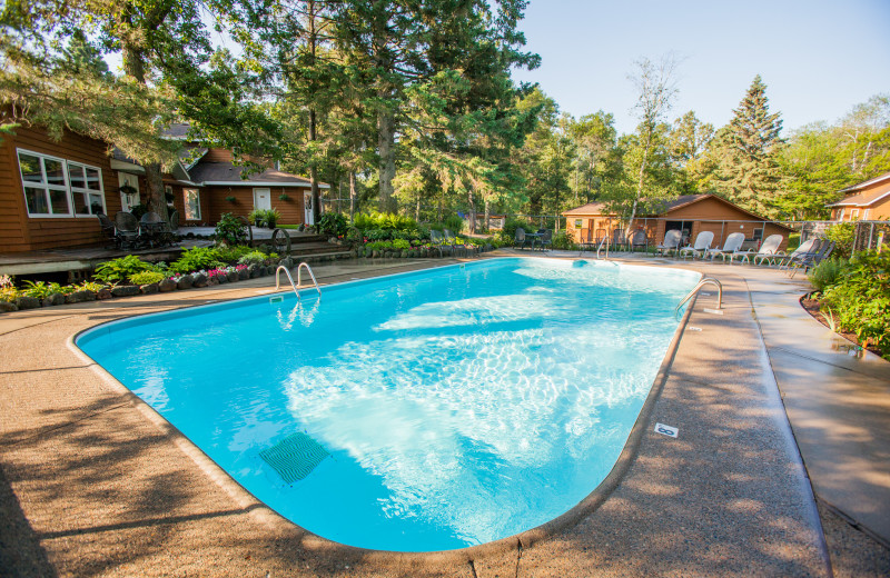 Half Moon Trail Resort offers a heated outdoor pool from Memorial day through Labor day.