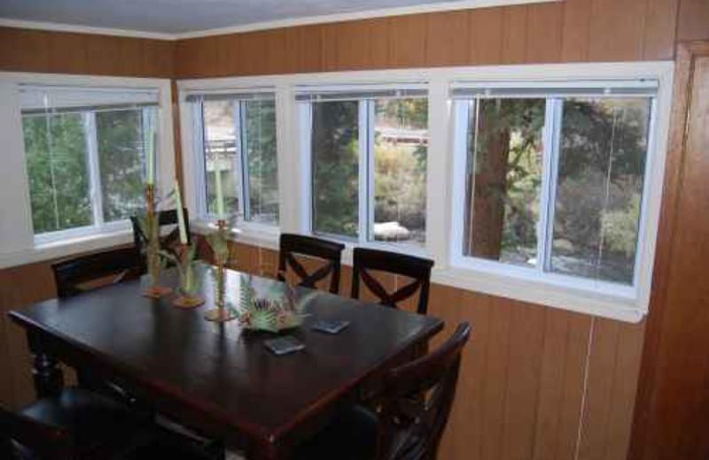 Cabin dining room at Range Property Management.