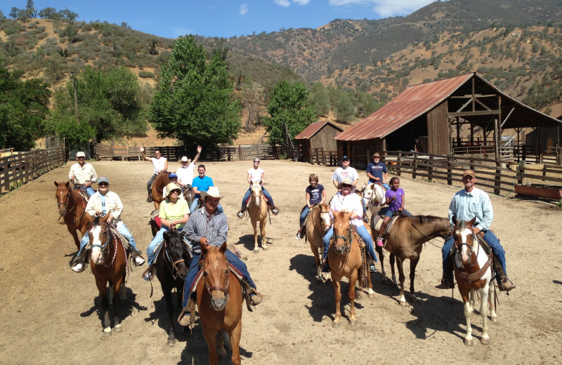 Horse riding at Rankin Ranch.