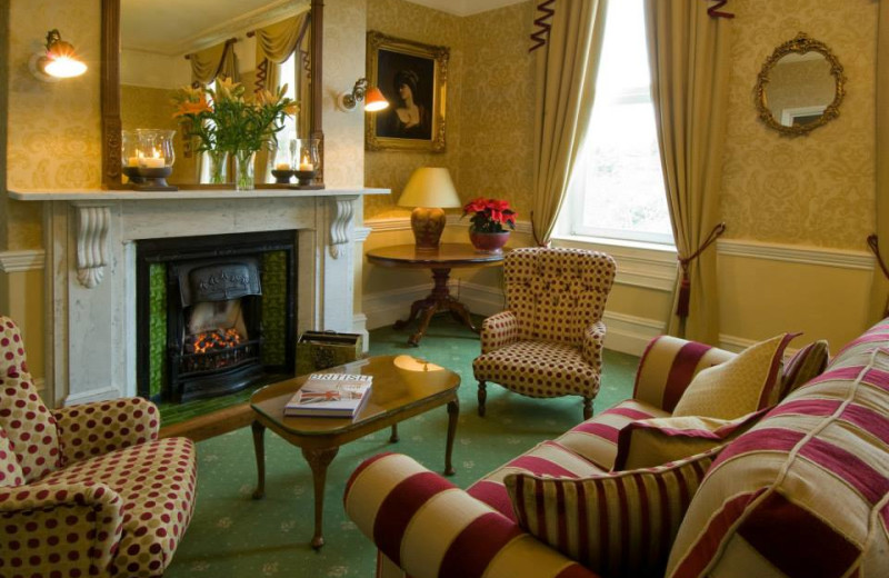 Living room at Oldfields Hotel.