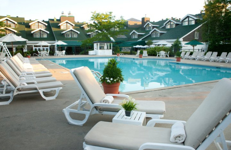 Outdoor pool at Hotel Manoir Saint-Sauveur.