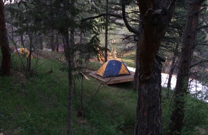 Camping at Boulder Adventure Lodge.