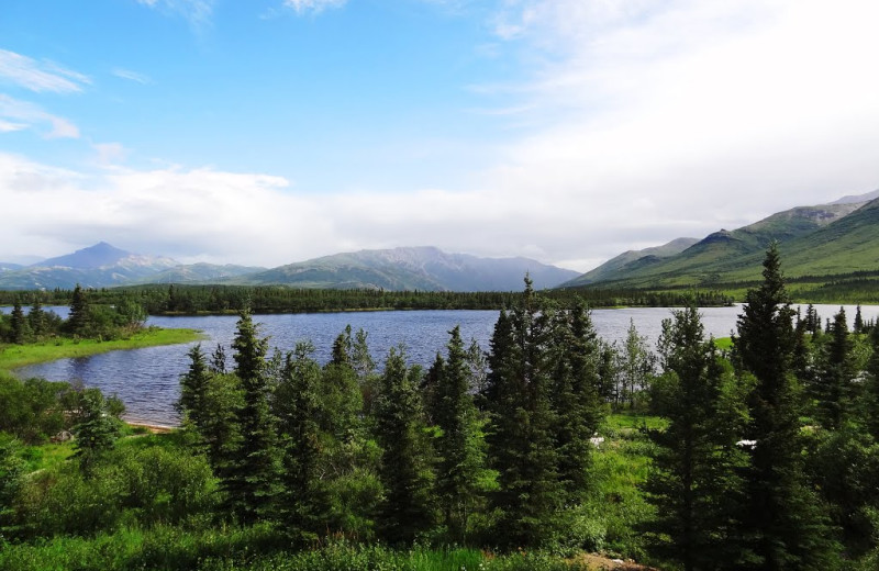 Lake view at Denali Lakeview Inn.