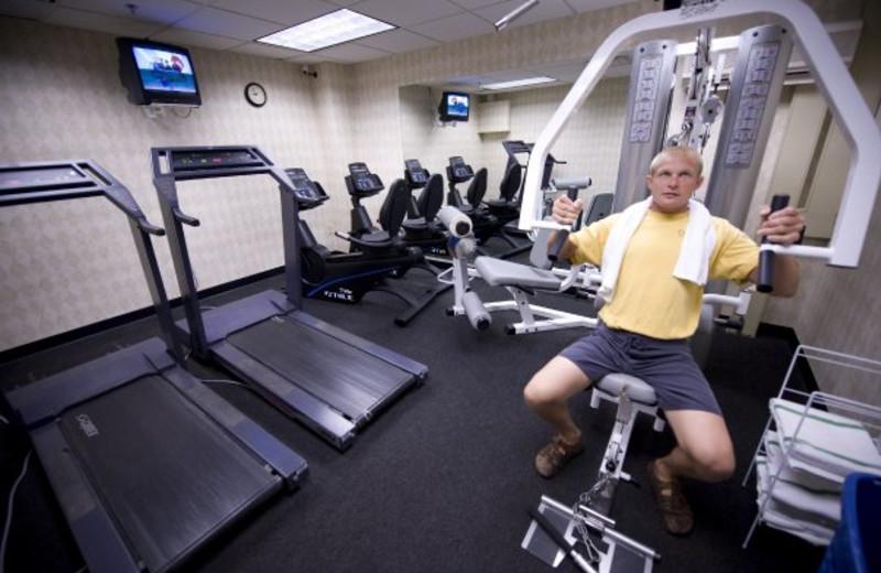 Fitness center at ParkShore Resort.
