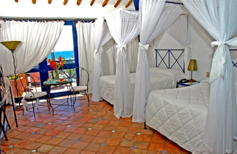 Guest room at Hotel La Samanna.