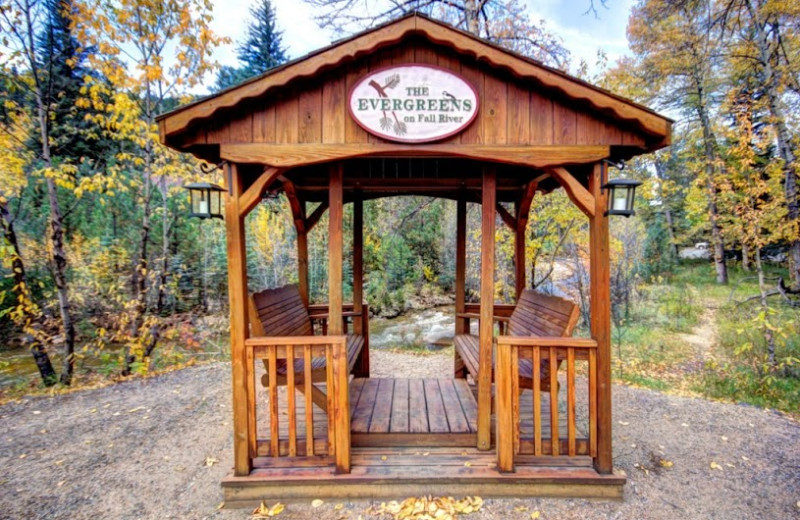 Gazebo at The Evergreens On Fall River.